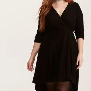 NWT Torrid Black Faux Wrap Around Dress Plus Size